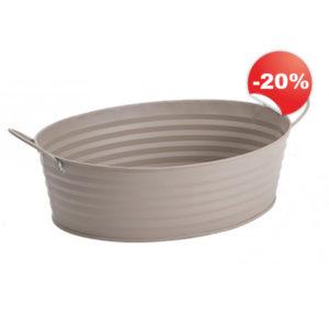 Corbeille métal taupe Blanchet Viniti en promo à -20%
