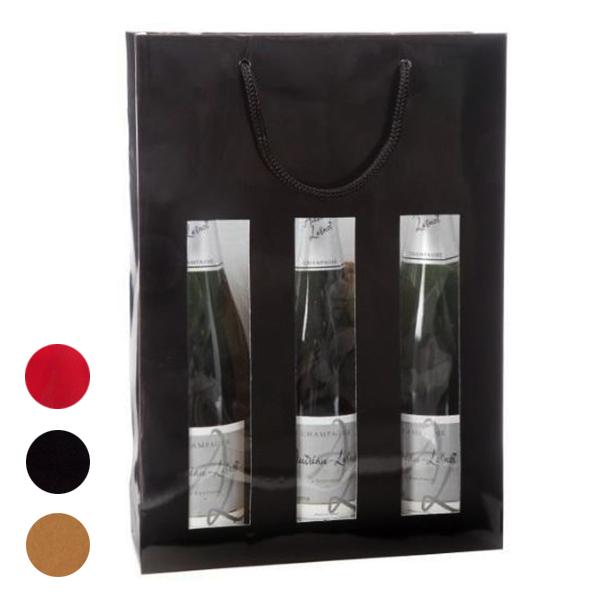 Blanchet Viniti poche 3 bouteilles avec fenêtres