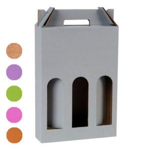 Blanchet Viniti valisette carton 3 bouteilles 6 couleurs